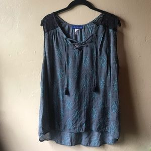 640f391f0c3c5 Simply Styled Tops - NWT Boho Women s lace up top